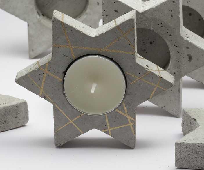 Z betonu vyrobíte úplně cokoliv, třeba svícínky pro manželku, pixabay.com