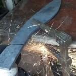 Výroba nože z ložiska