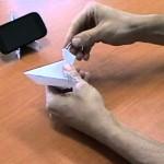 Papírový stojánek na mobil