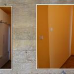 Výroba vestavěné skříně u komína