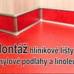 Hliníkové lišty na podlahy z PVC, lina a vinylu
