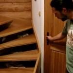 Točité dubové schodiště pro malý prostor