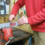 Oprava lišty motorové pily