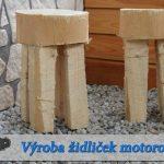 Židlička vyřezaná z jednoho kusu dřeva