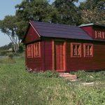 Mobilní chata poslouží i jako hausbót
