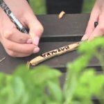 Originální dřevěné popisky rostlin