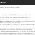 Hodinový manžel František Veselovský – Praha