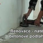 Renovace betonové podlahy epoxidovým nátěrem