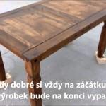 Vzhled starého dřeva patinováním