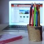 Stojánek na tužky vlastní výroby