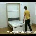 Výklopná postel s plynovým zvedáním
