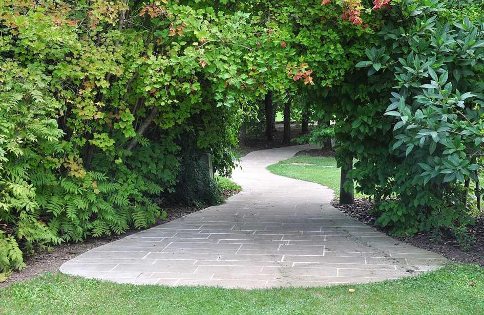 Dlážděný chodník se hodí pro odpočinkovou i užitkovou zahradu, pixabay.com