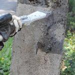 Čištění betonu suchým ledem