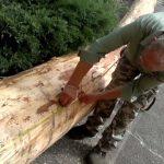 Dřevěný stojan na kolo