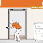 Jak na montáž vnitřních dveří