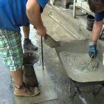 Zkouška betonu rozlitím kužele